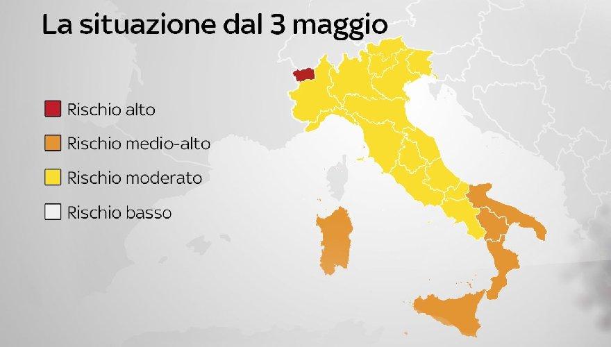Cartina Sicilia Termini Imerese.Zone Rosse La Sicilia Stacca Tutti La Mappa Aggiornata In Italia
