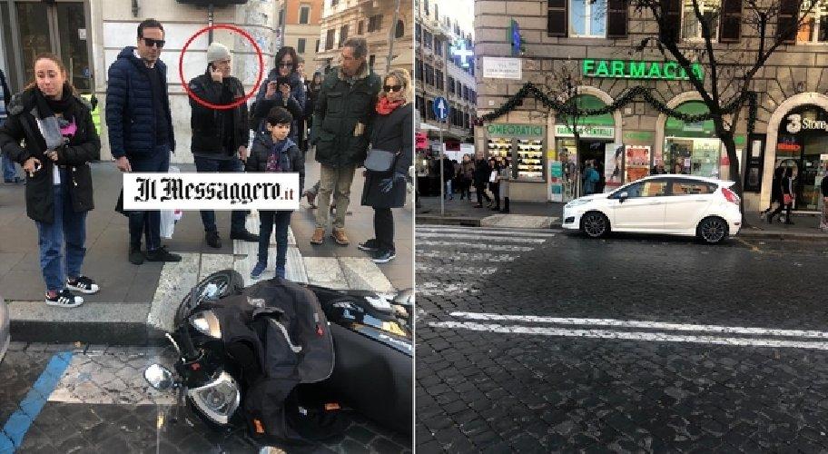 Roma, incidente in scooter per Luca Zingaretti