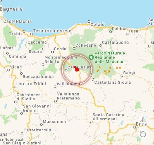 Scossa di terremoto a Palermo, magnitudo registrata è di 3.7