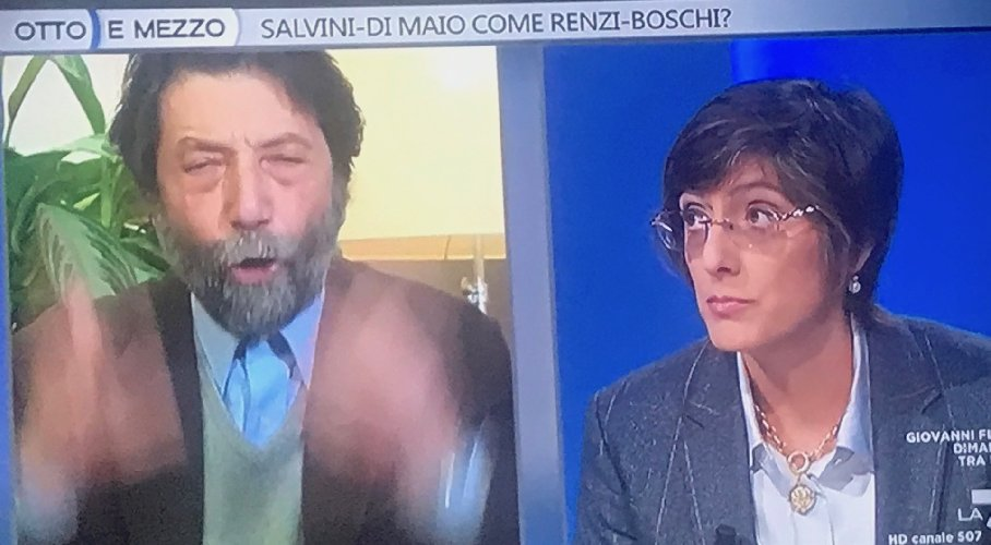Cacciari alla Bongiorno in diretta Tv: Vergognatevi