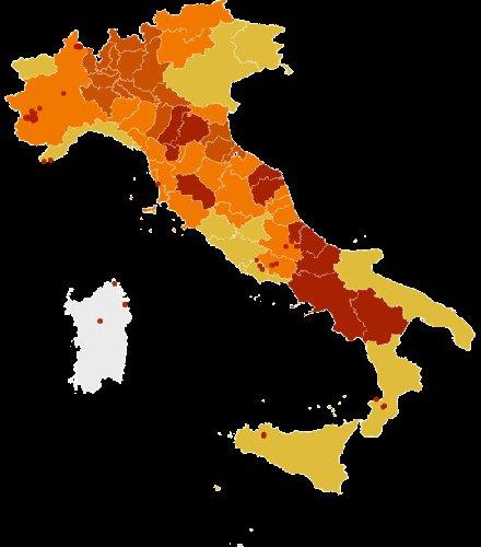 Cartina Dell Italia Marche.Covid 5 Colori La Nuova Mappa Dell Italia