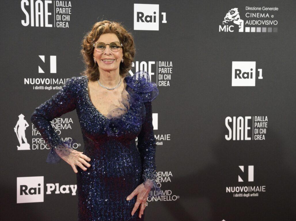Sophia Loren in Armani
