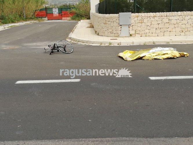 Ciclista investito sulla Donnalucata-Marina di Ragusa. E' morto