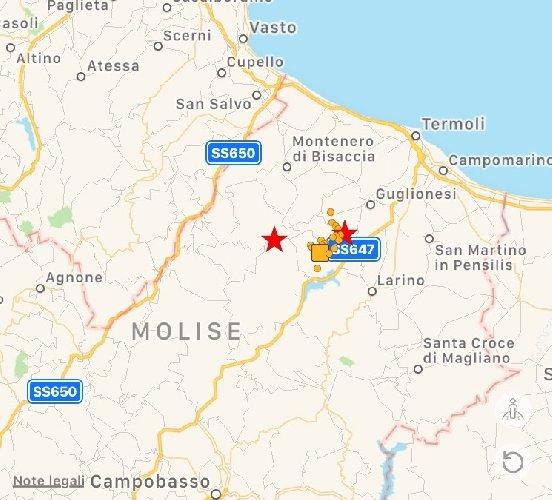 Terremoto, scossa di magnitudo 5.1 in Molise