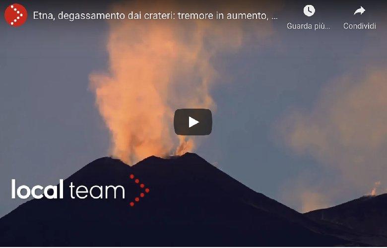 Etna: parossismo da cratere Sud-Est, fontane lava pulsanti