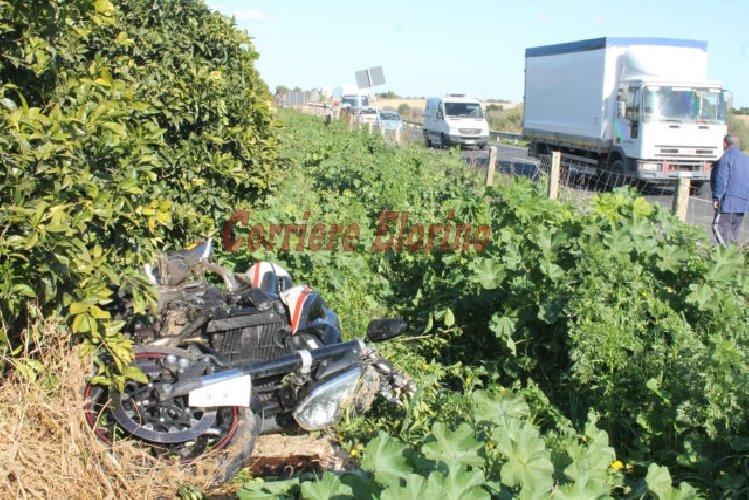 Incidente stradale sulla Ispica-Rosolini. Motociclista in gravi condizioni