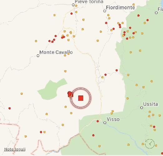 Terremoto al centro Italia di magnitudo 3.4