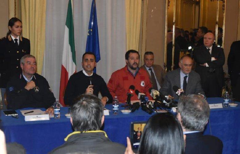 Salvini e Di Maio visiteranno oggi luoghi colpiti dal terremoto