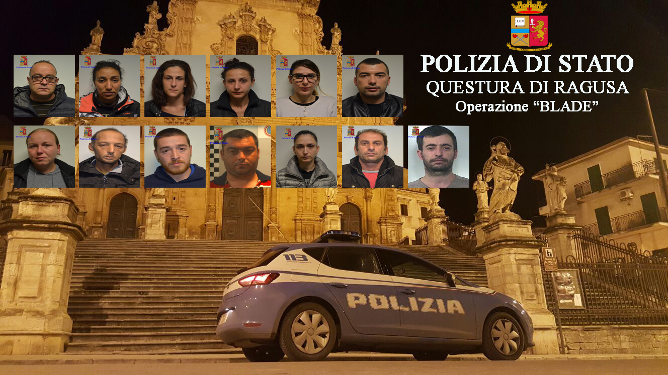 Blitz anti-droga nel Ragusano: banda controllava traffico e spaccio
