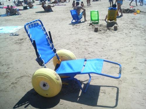 Una sedia a rotelle per fare il bagno a mare storia di for Sedia a rotelle per gatti