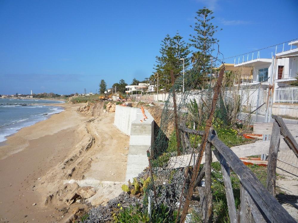 Il ripascimento della spiaggia a caucana ragusa for Disegni della casa sulla spiaggia