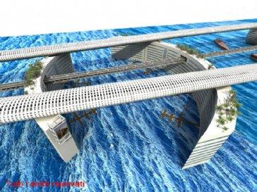 Mor temor il mio ponte galleggiante abitato sullo stretto for Progettista di ponti online gratuito
